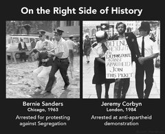 On the right side of history