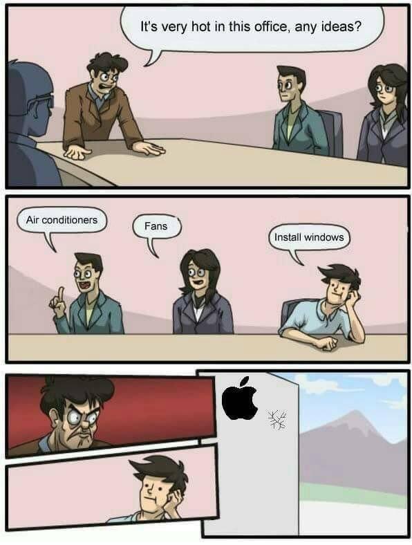 Apple's not hot