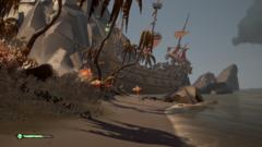 Skeleton ship stranded