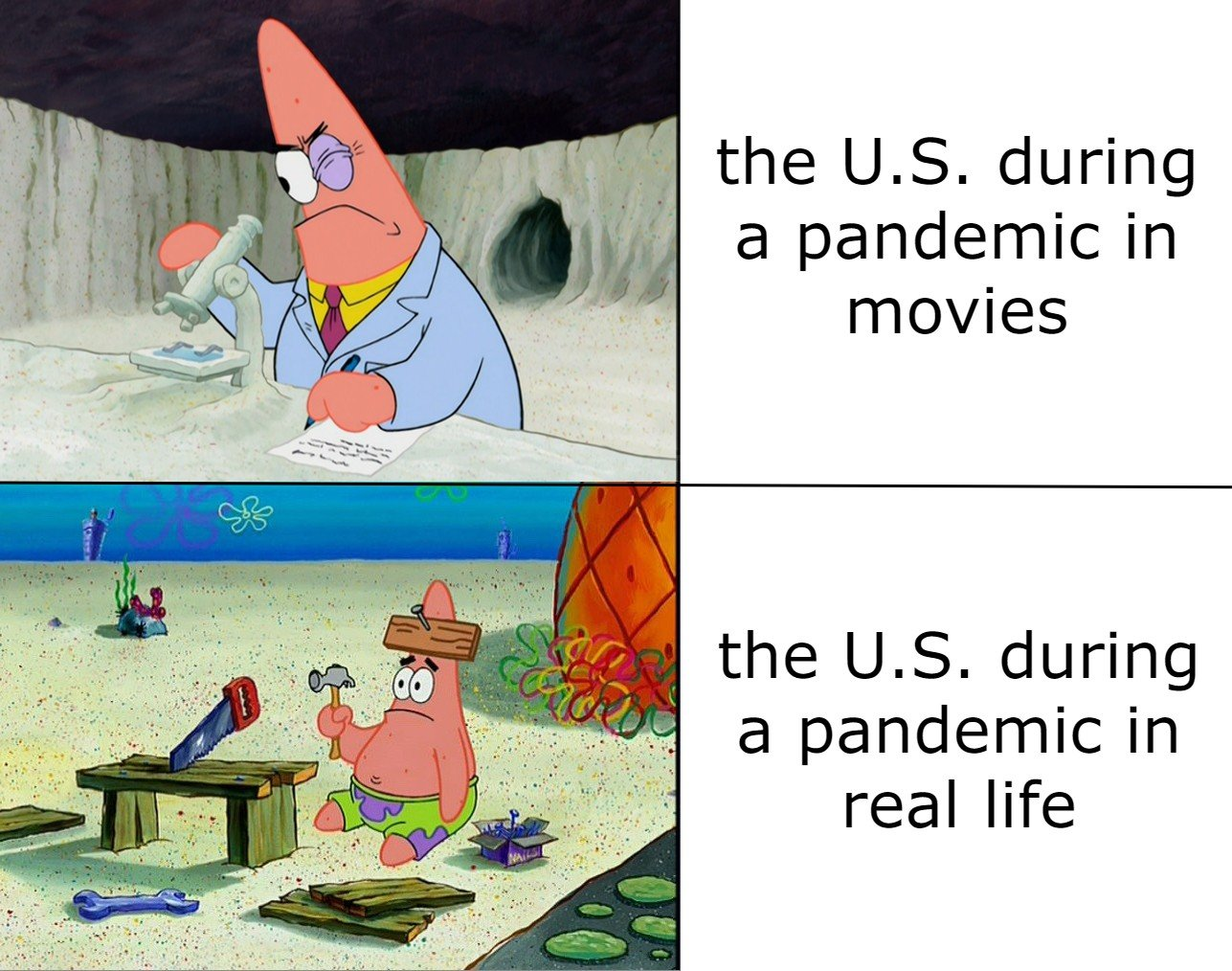 The US during a pandemic